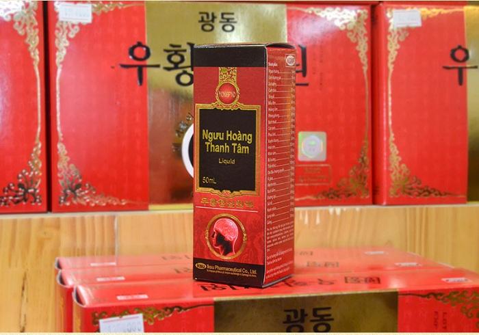 Hộp ngưu hoàng thanh tâm liquid Hàn Quốc dạng nước