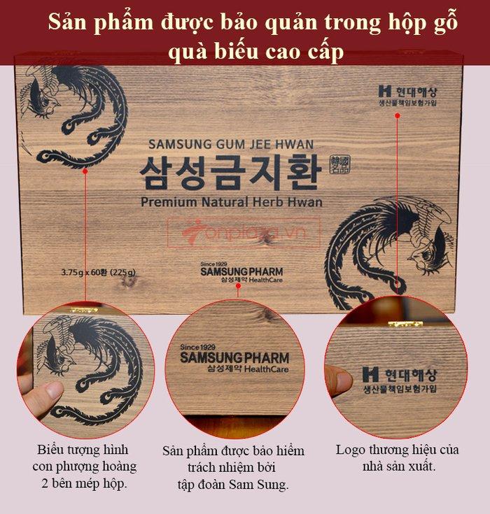 Bổ não 60 viên hộp gỗ Hàn Quốc A036 2