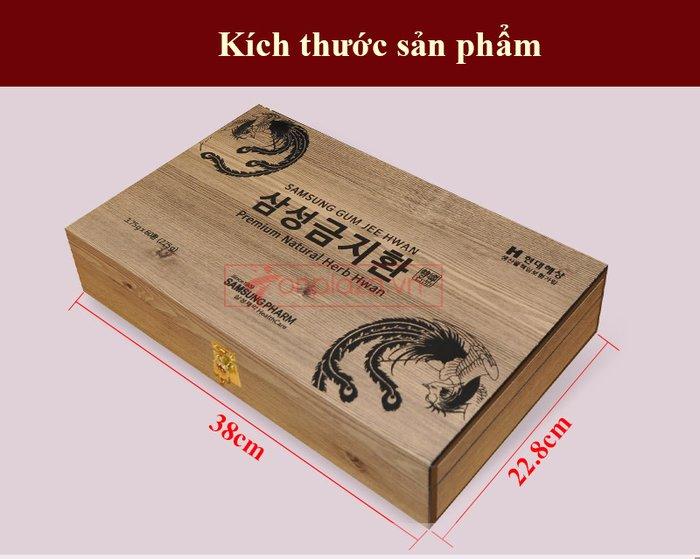 Bổ não 60 viên hộp gỗ Hàn Quốc A036 4