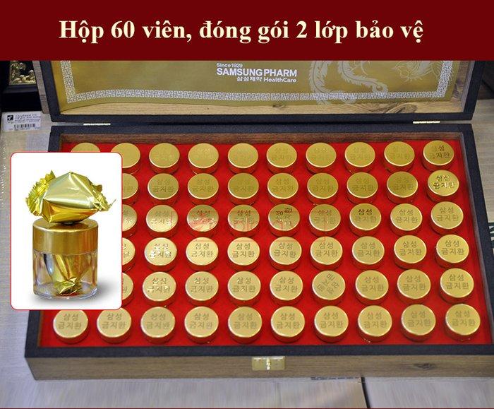 Bổ não 60 viên hộp gỗ Hàn Quốc A036 6